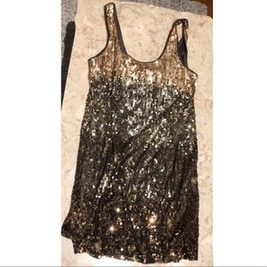 ✨Sparkly Gold Sequin Gradient Express Dress😍